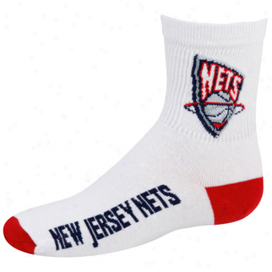 New Jersey Nets Youth Of a ~ color Team Logo Crew Socks