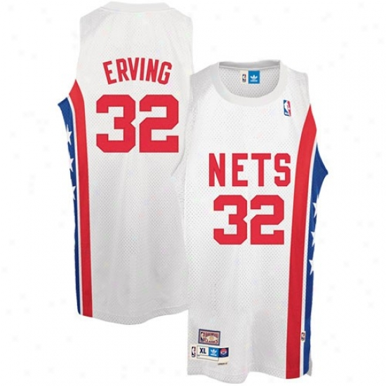 New Jerseys Net Jerseys : Adidas New Jerseys Nst #32 Julius Erving White Swingman Basketball Jerseys