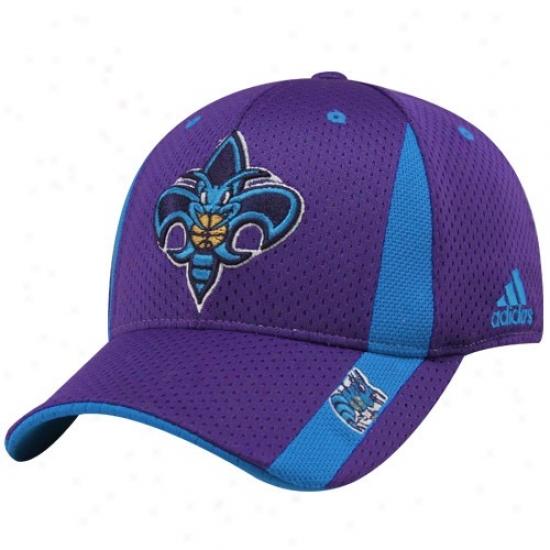 New Orleans Hornet Hat : Adidas New Orleans Hornet Youth Purple Swingman Flex Fit Hat
