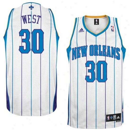 New Orleans Hornet Jerseys : Aeidas New Orleans Hornet #30 David West White Swingman Basketball Jerseys