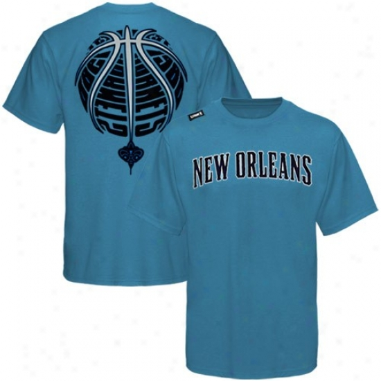 New Orleans Hornet Tees : New Orleans Hornet Teal The Rock Tees