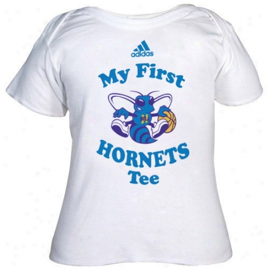 New Orleans Hornet Tshirt : Adidad New Orleans Hornet Infant White My First Tshirt Tshirt