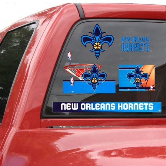 New Orleans Hornets 11'' X 17'' Window Clings Sheet