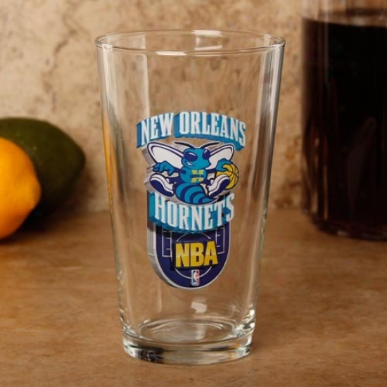 New Orleans Hornets 17 Oz. Enhanced Hi-def Mixing Glass