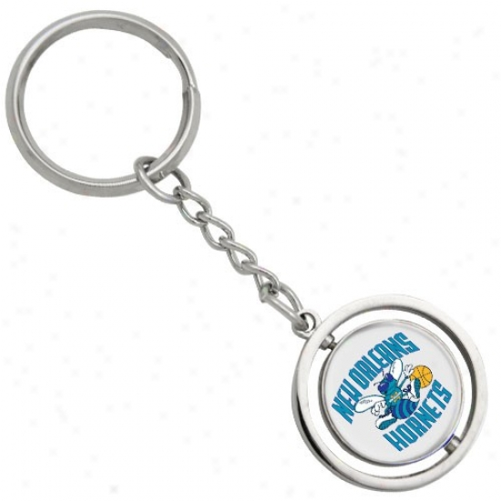 New Orleans Hornets 3d Spinning Basketball Keychain