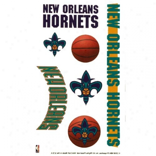 New Orleans Hornets 4'' X 7'' Transitory Twttoo Sheet