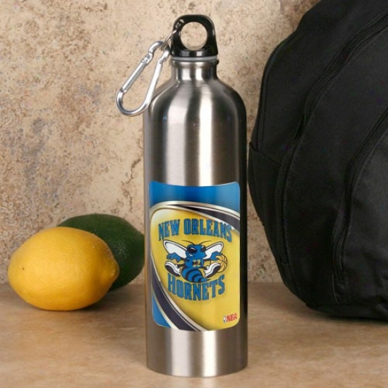 New Orleans Hornets 750ml Unsullied Stee iWater Bottle W/ Carabiner Clip