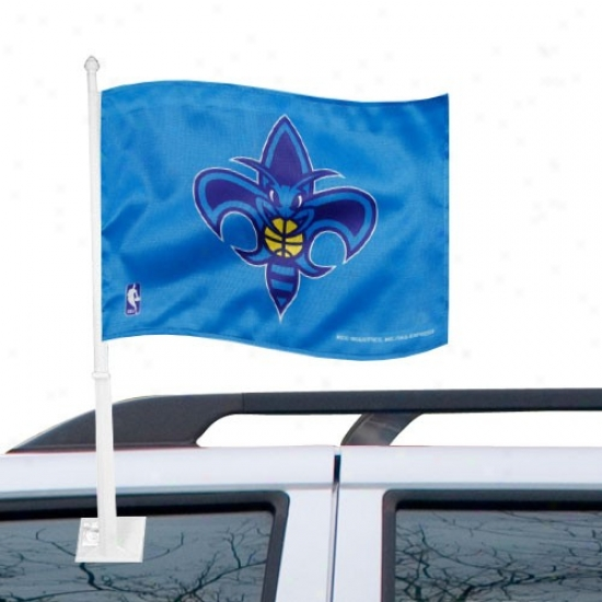 New Orleans Hornets Banner : New Orleans Hornets Creole Blue Car Banner