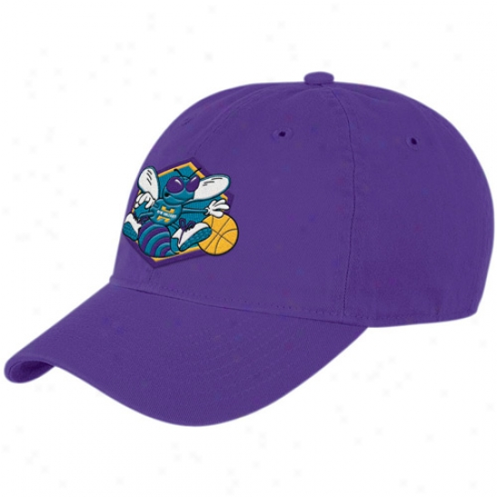 Unaccustomed Orleans Hornets Caps : Adidas New Orleans Hornsts Purple Basic Logo Flex Fit Slouch Caps