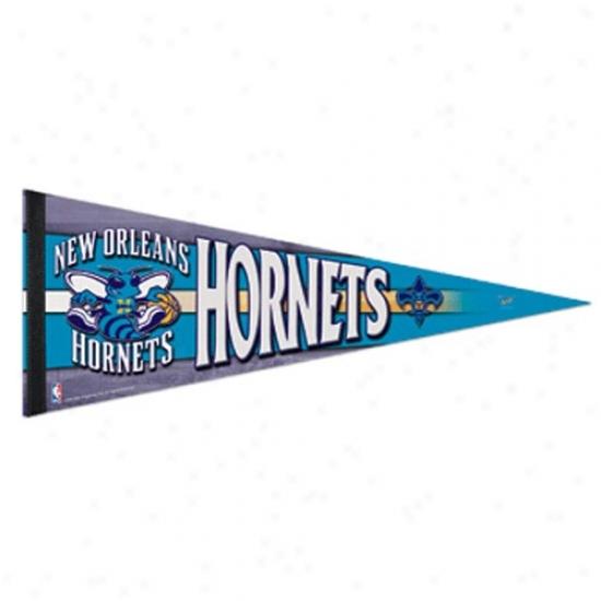 New Orleans Hornets Creole Blue 12'' X 30'' Premium Feelt Pennant