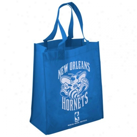 New Orleans Hornets Creole Blue Reusable Tote Bag