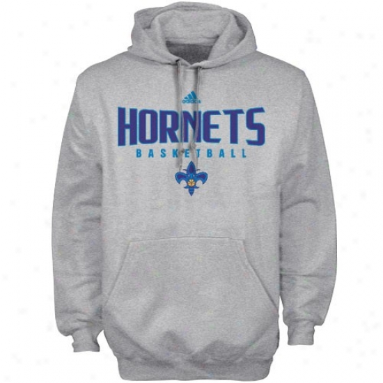 New Orleans Hornets Hoodies : Adidas Unaccustomed Orleans Hornets Ash Absolute Hoodies