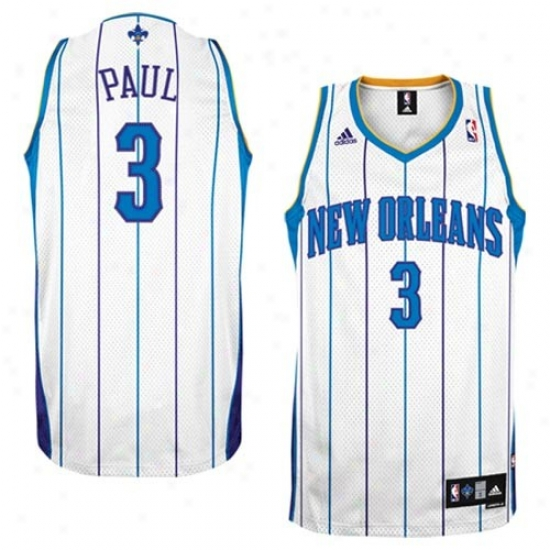 New Orleans Hornets Jersey : Adidas New Orleans Hornets #3 Chris Pul White Home Swingman Basketball Jersey