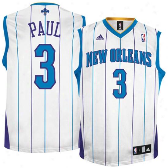 New Orleans Hornets Jerseys : Adidas New Orleans Hornets #3 Chris Paul White Replica Basketball Jerseys