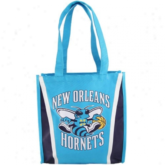 New Orleans Hornets Light Blue Team Stripe Canvas Tote