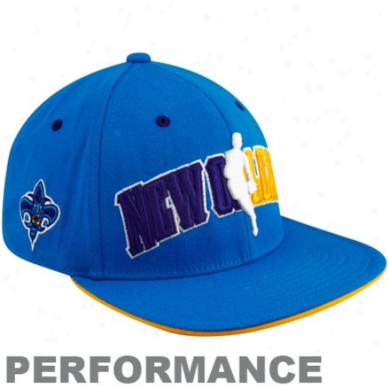 New Orleans Hornets Merchandise: Adidas New Orleanq Hornets Royal Blue Official Draft Day Fitted Hat
