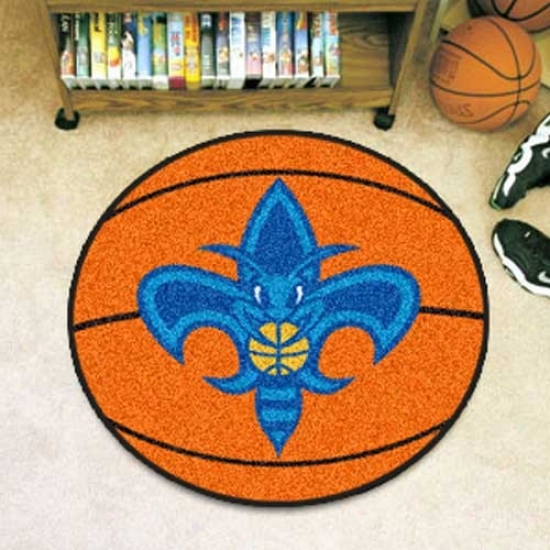 New Orleans Hornets Orange Round Basketball Mat