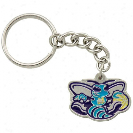 New Orleans Hornets Pewter Primary Logo Keychain