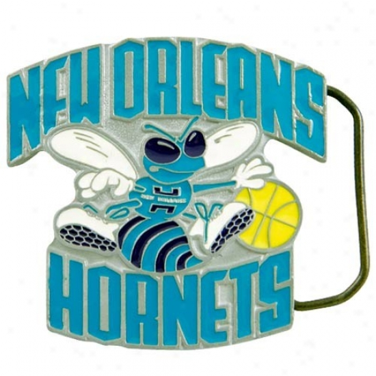 Just discovered Orleans Hornets Pewter Team Logo Belt Buckle