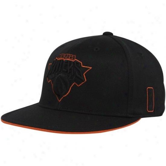 Unaccustomed York Knuck Hats : Adidas New York Knick Black Tonal 210 Fitted Flex Hats