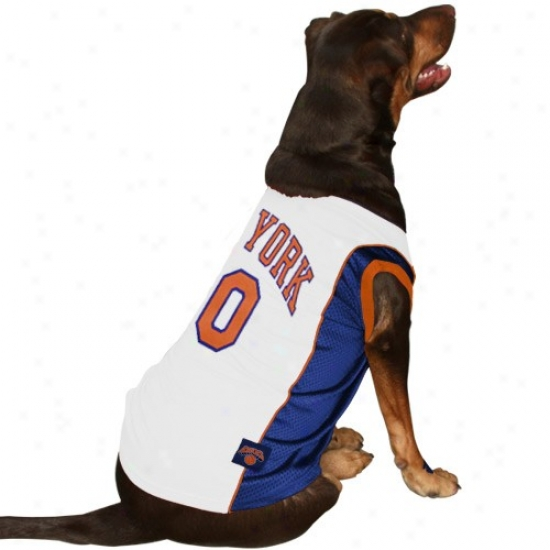 New York Knicks #00 White Pet Jersey