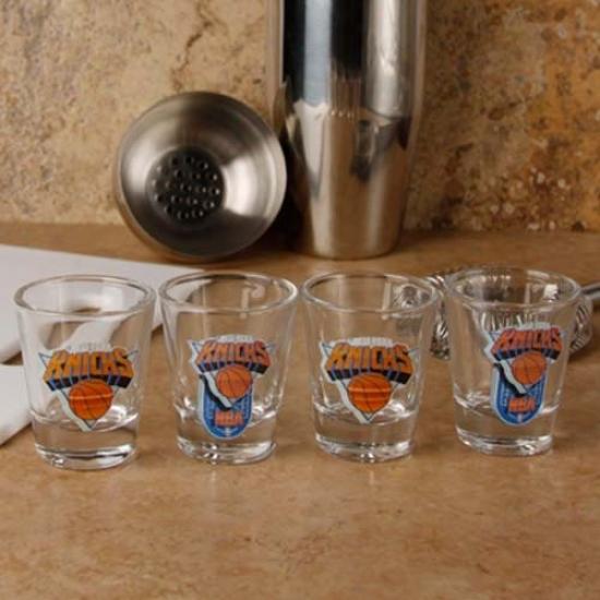 New Yofk Knicks 4-pack Enhanced High Defjnition Design Shot Glass Set
