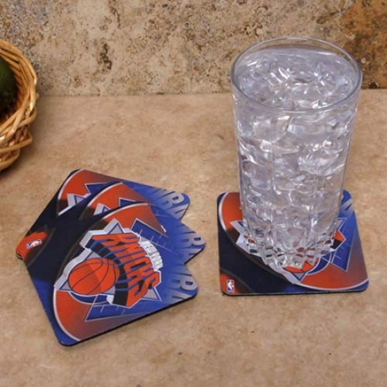 New York Knicks 4-pack Sublimated Logo Neoprene Coaster Set