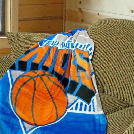 """new York Knicks 50""""x60"""" Royal Plush Blanket Throw"""
