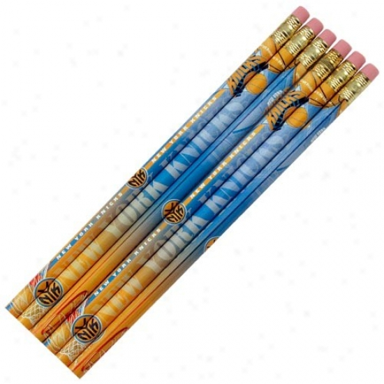 New York Knicks 6-pack Team Logo Pencil Set