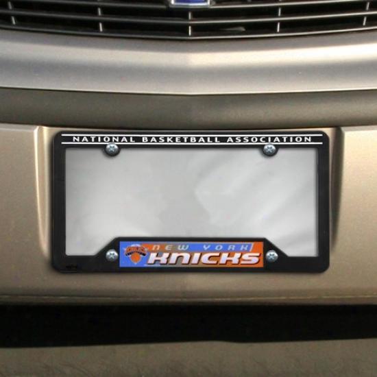 New York Knicks Black Plastic License Plate Frame