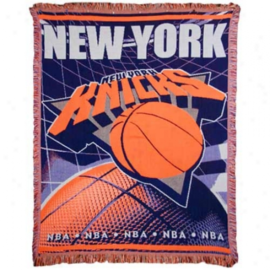 New York Knicks Jacquard Woven Blanket Throw