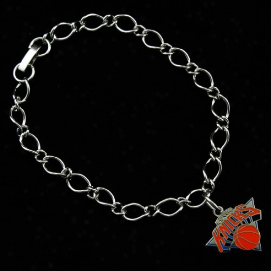 New York Knicks Ladies Silver-tone Charm Bracelet