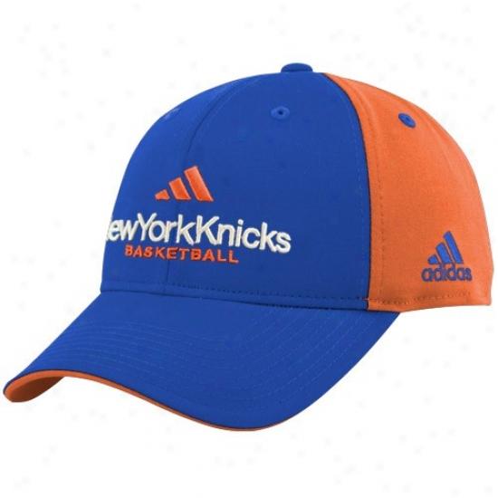 New York Knicks Merchandise: Adidas New York Knicks Magnificent Blue-orange Multl Team Color Structured Hat