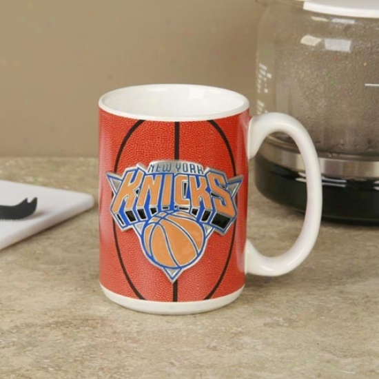 Recent York Knicks Pewter Logo Basketball Coffee Mug