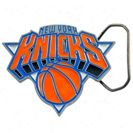 New York Knicks Pewter Team Logo Belt Buckle