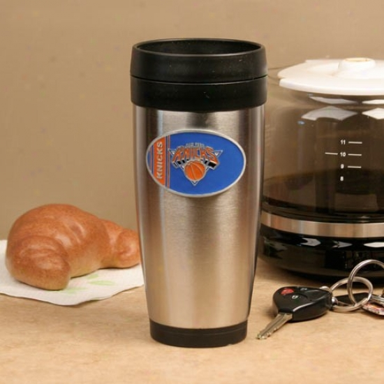 New York Knicks Stainless Steel Team Logo Travel Tumbler