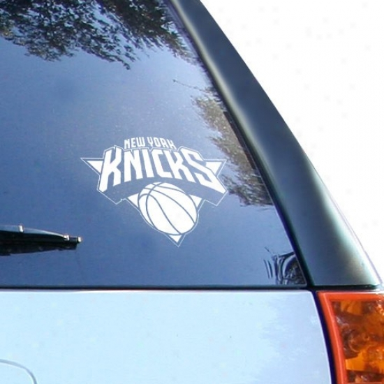 New York Knicks White 8'' X 8'' Logo Decal