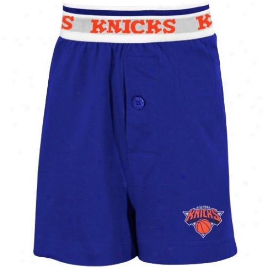 New York Knicks Yoith Royal Blue Solid Banded Boxer Shorts