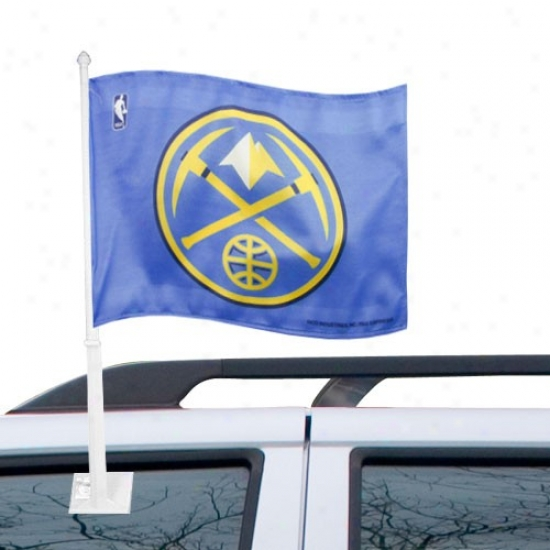 Nuggets Flag : Nuggets Light Blue Car Flag