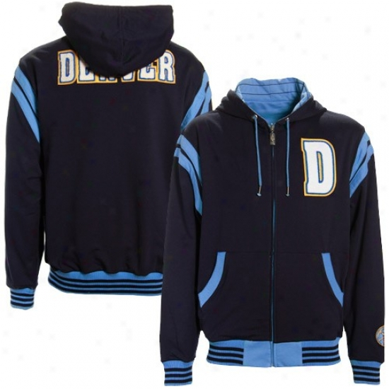 Nuggets Hoody : Nuggets Navy Blue-light Blue Thompson Full Zip Reversible Hoody