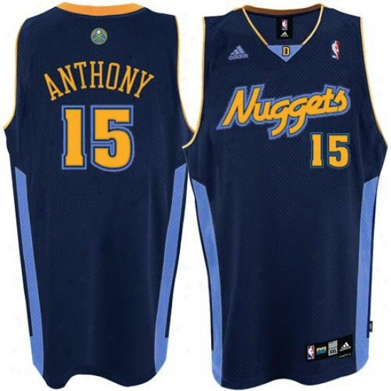 Nuggets Jersey : Adidas Nuggets #15 Carmelo Anthony Navy Blue Youth Alternate Color Swingman Jersey