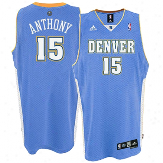 Nuggets Jersey : Adidas Nuggets #15 Carmelo Anthony Light Blue Youth Swingman Jersey