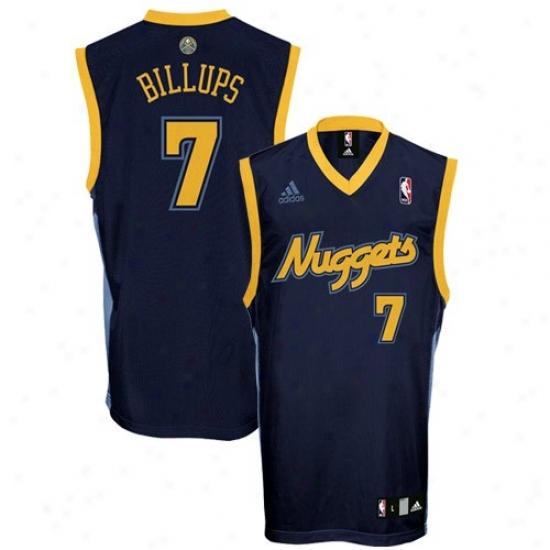 Nuggets Jerseys : Adidas Nuggets #7 Chauncey Billups Navy Blue Reolica Basketball Jerseys