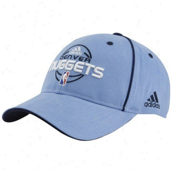 Nuggets Merchandisr: Adidas Nuggets Youth Light Azure Official Team Adjustable Hat