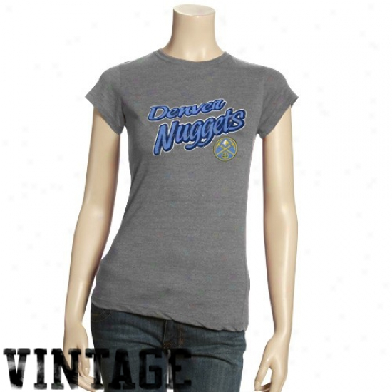 Nuggets Shirts : Nuggets Ladies Ash Basic Logo Triblend Shirts