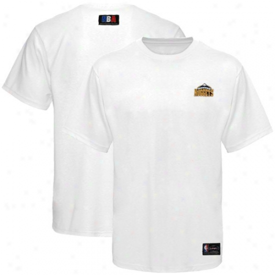 Nuggets Tshirts : Nuggets White Small Logo Tshirts