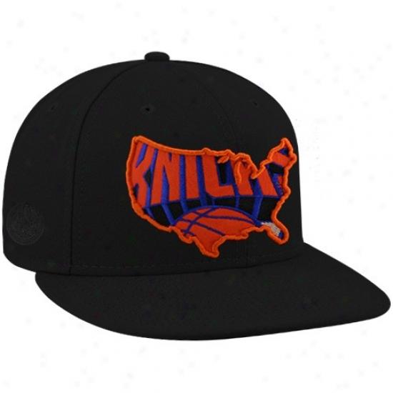 Ny Khicks Cap : New Era-espn Ny Knicks Black Insider Premoum Fitted Cap