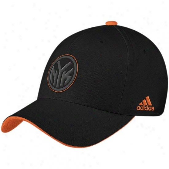 N.y. Knicks Har : Adidas Ny. Knicks Black Tonal Flex Suitable Hat