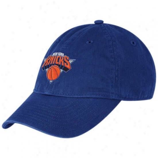 N.y. Knicks Merchandise : Adidas N.y. Knicks Ladies Royal Blue Basic Logo Slouch Adjustable Hat