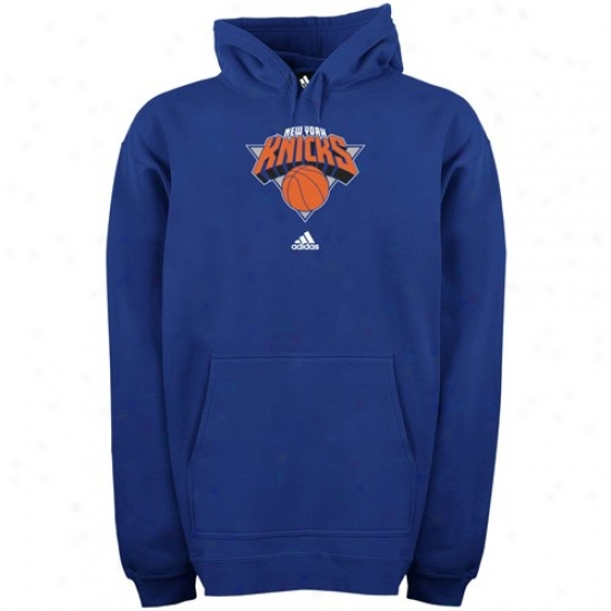 Ny Knicks Sweat Shirt : Adidas Ny Knicks Royal Blue Full Primary Logo Sweat Shirt